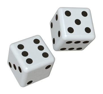 2 dices and girl