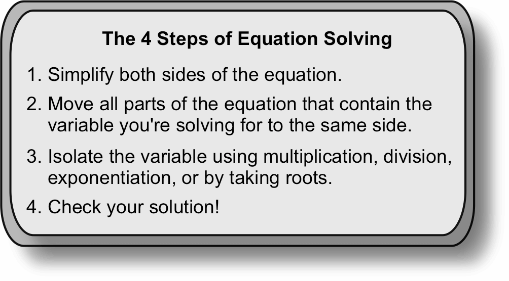 A 4-Step Guide to Solving Equations (Part 2)