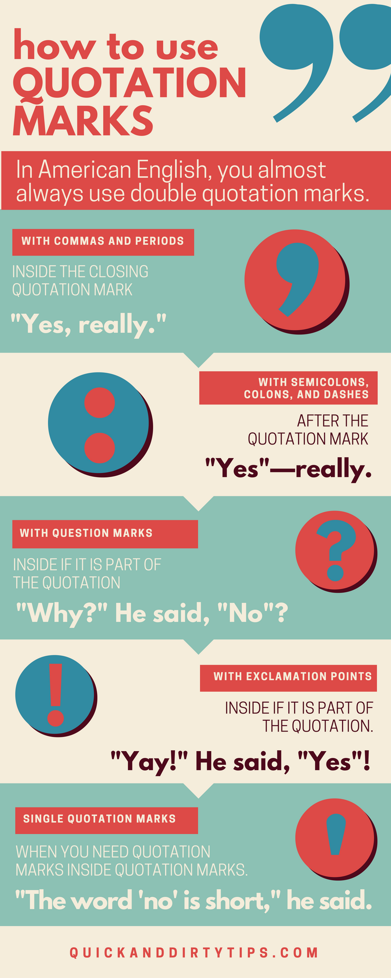 Quotes And Punctuation How To Use Quotation Marks 9 Examples  Grammar Girl