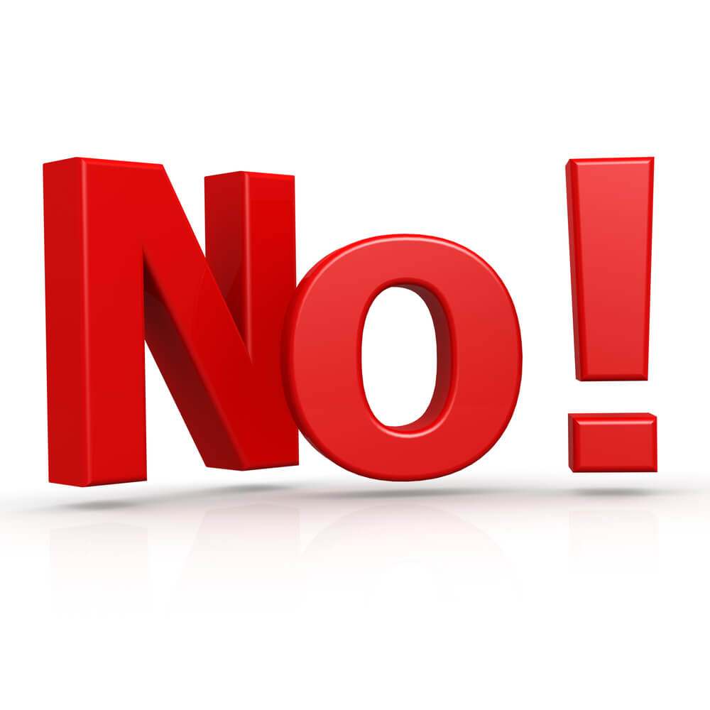 "No Credit Car Loans >> Hearing the Word ""No"" Helps You Succeed"