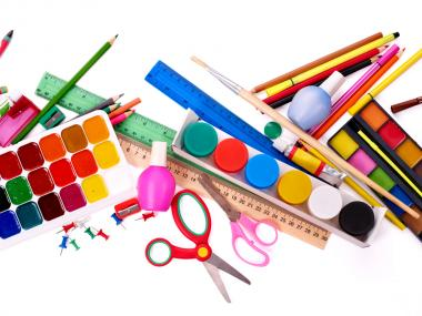 disorganized craft supplies
