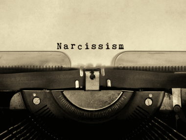 narcissism typed from a typewriter