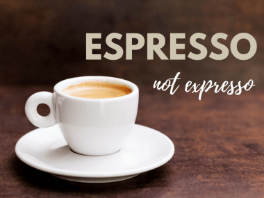 expresso espresso essay Expresso started as a misspelling of espresso, which came to english from italian and refers to a strong, pressure-brewed coffee but because expresso has.