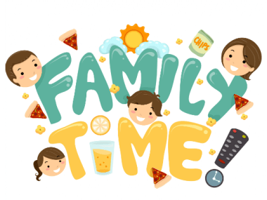 image of text that reads 'family time'