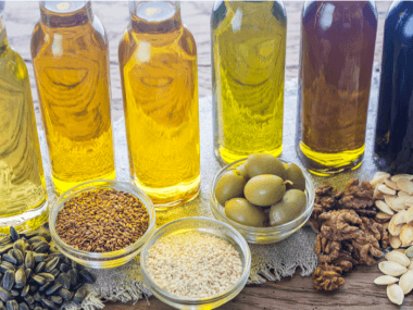 bottles of cooking oils