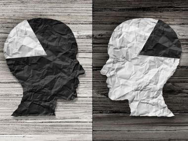 a visual representation of a mixed metaphor: people swapping parts of their brains