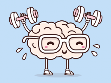 image of a brain working out