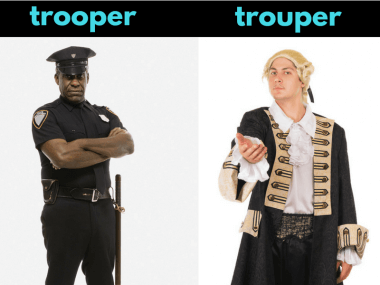 trouper vs trooper