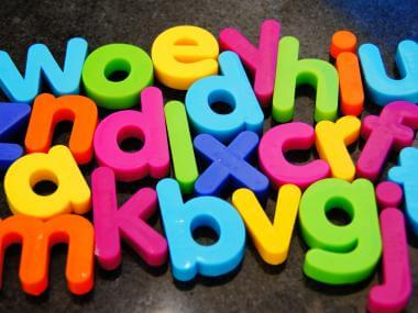 A picture of ABCs and more letters from the alphabet