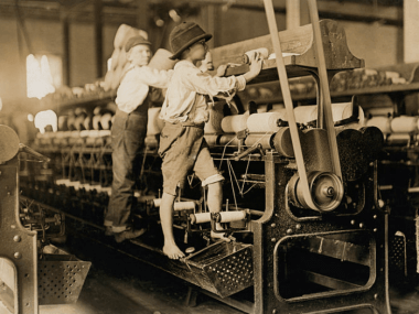 image of children working in factory