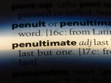 penultimate dictionary entry