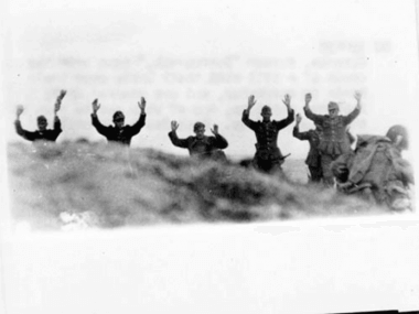 German Surrender at Omaha Beach