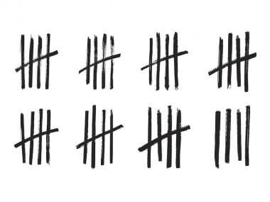 hashmarks used for counting amounts