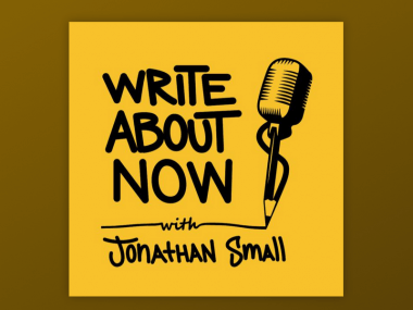 Write About Now podcast logo