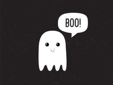 a ghost that says boo