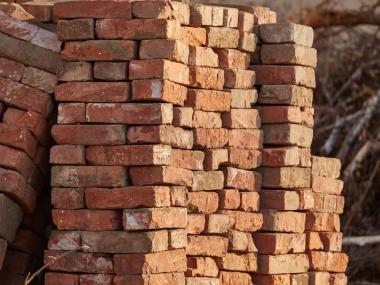 a picture of a literal ton of bricks