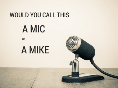 microphone mic or mike