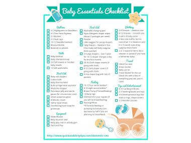essential baby items
