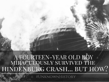 how a fourteen year old boy survived the hindenburg crash