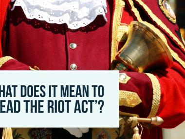 read the riot act