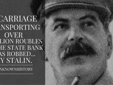 when stalin robbed a bank