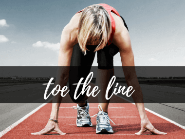 toe the line or tow the line