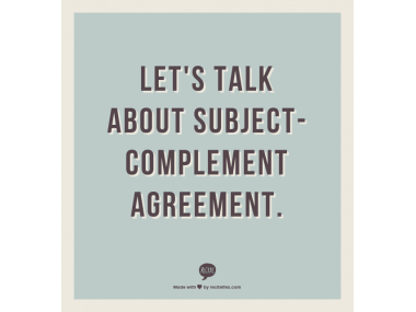 subjectcomplement