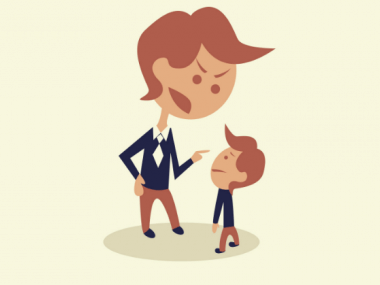 a parent angry with a child