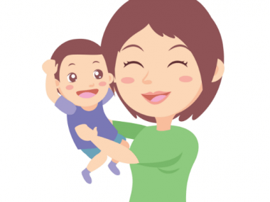 illustration of mother with good self esteem