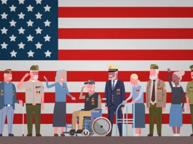 image of veterans and military spouses ready for retirement