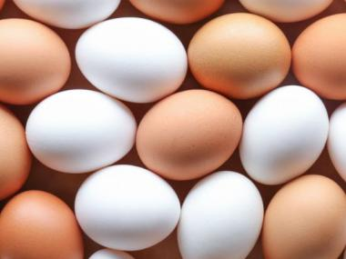image of white and brown eggs