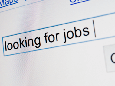 a google search that says looking for jobs