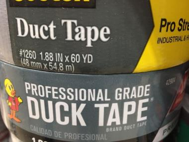 Duct tape stacked on top of duck taps