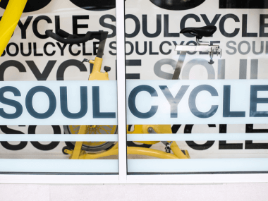 Photo of a SoulCycle sign
