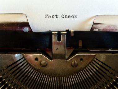 Fact checking on a typewriter