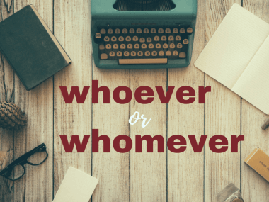 a typewriter with the words whoever or whomever