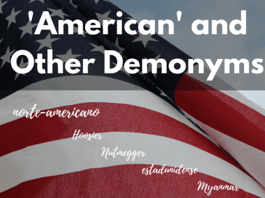 American and Other Demonyms