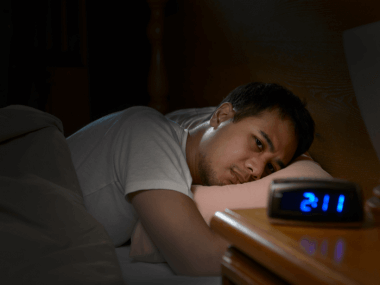 man suffers from insomnia
