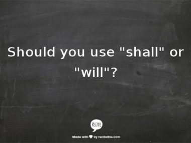 Shall or Will