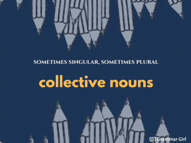 Sometimes collective nouns are singular and sometimes they're plural.