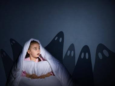 girl scared of ghosts