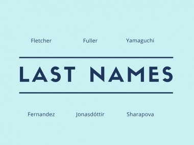 Origin of last names