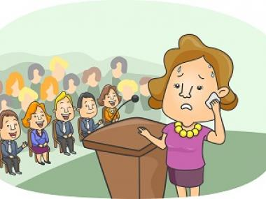how to handle sweating while public speaking