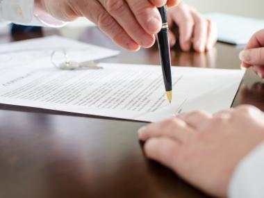 Signing an apartment lease