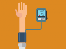 illustration of an arm getting blood pressure taken