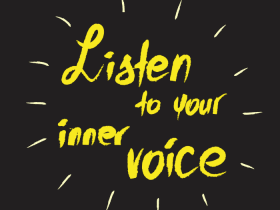 image of text 'listen to your inner voice'