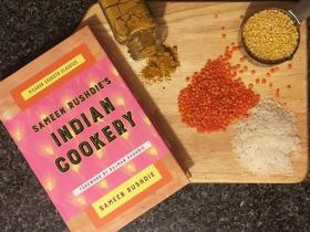 book cover Sameen Rushdie Indian Cookery