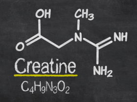 Drawing of the creatine molecule