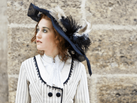 image of a woman in victorian garb