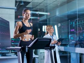 image of woman running on treadmill